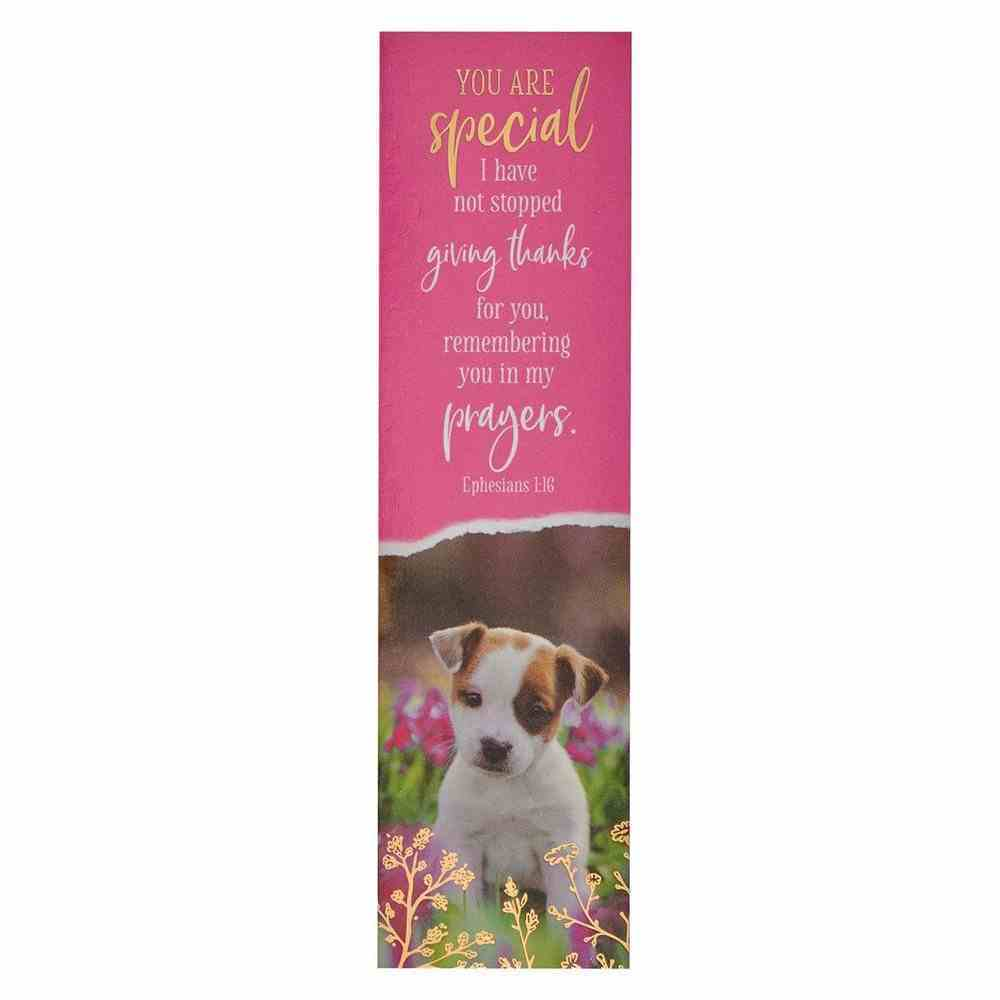 Bookmark: You Are Special (Ephesians 1:16) Pink/Puppy (10 Pack) Stationery