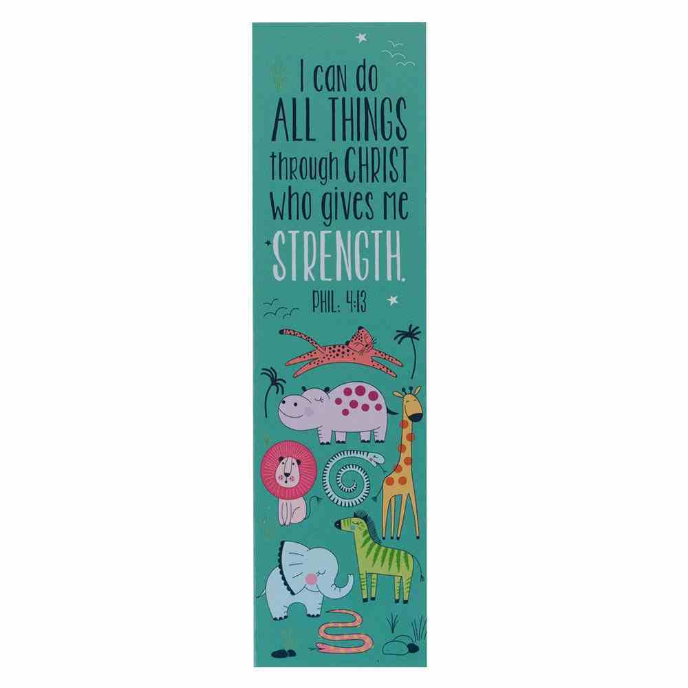 Bookmark: I Can Do Everything (Phil 4:13) Teal/Animals (10 Pack) Stationery