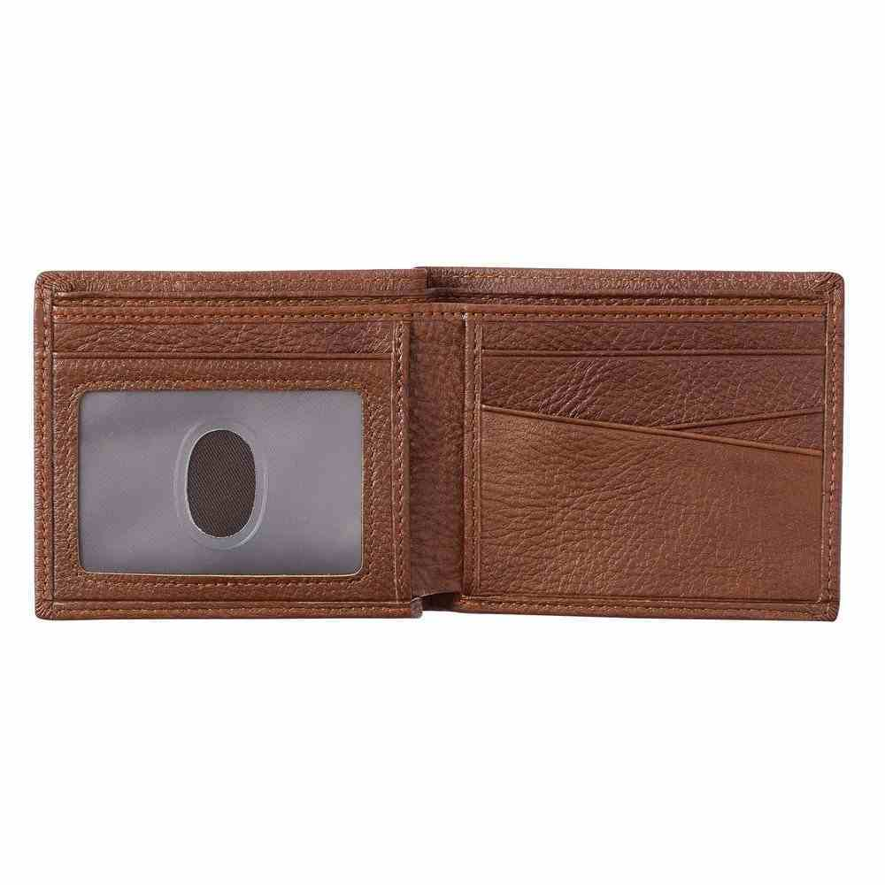 Leather Wallet: Blessed is the Man Dark Brown (Jer. 17:7) Genuine Leather
