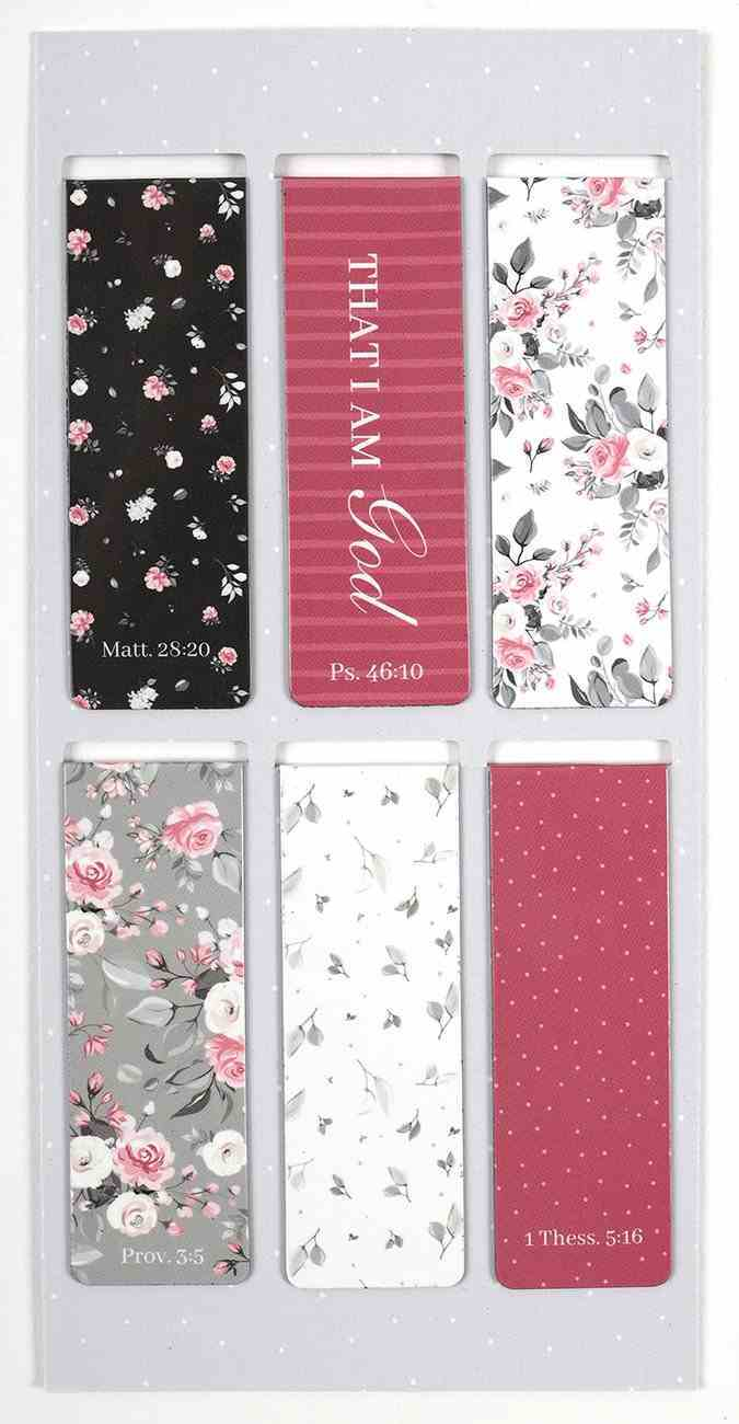 Bookmark Magnetic: Pink Roses (Set Of 6) Stationery