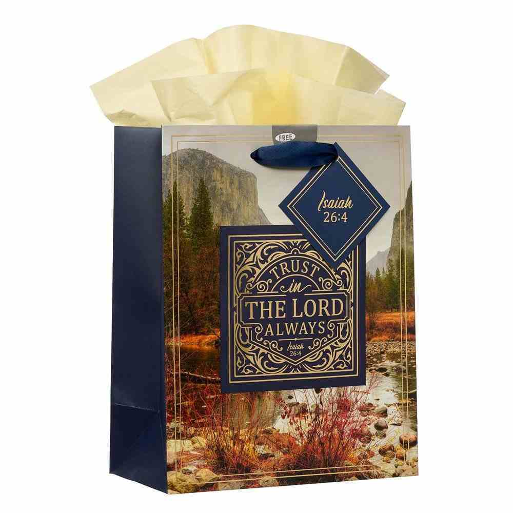 Gift Bag Medium: Rejoice in the Lord Navy Landscape (Phil 4:4) Stationery