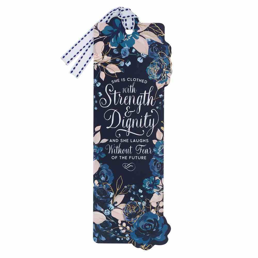 Premium Bookmark With Ribbon: Strength & Dignity Stationery