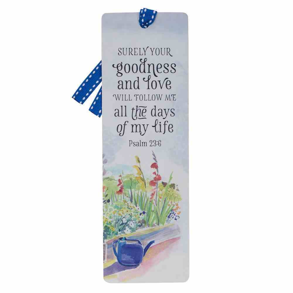 Premium Bookmark With Ribbon: Your Goodness (Psalm 23:6) Stationery