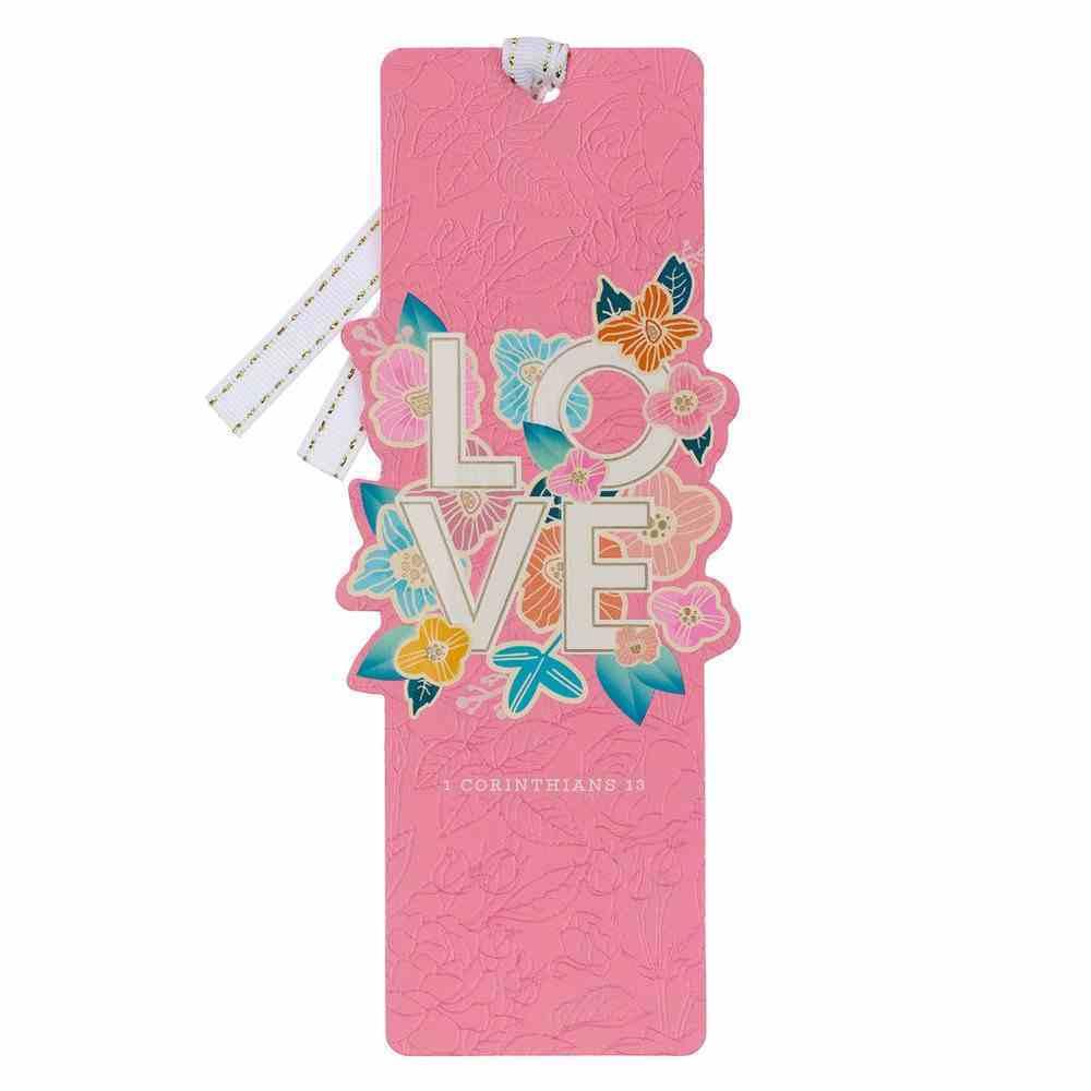 Premium Bookmark With Ribbon: Love (1 Cor. 13) Stationery