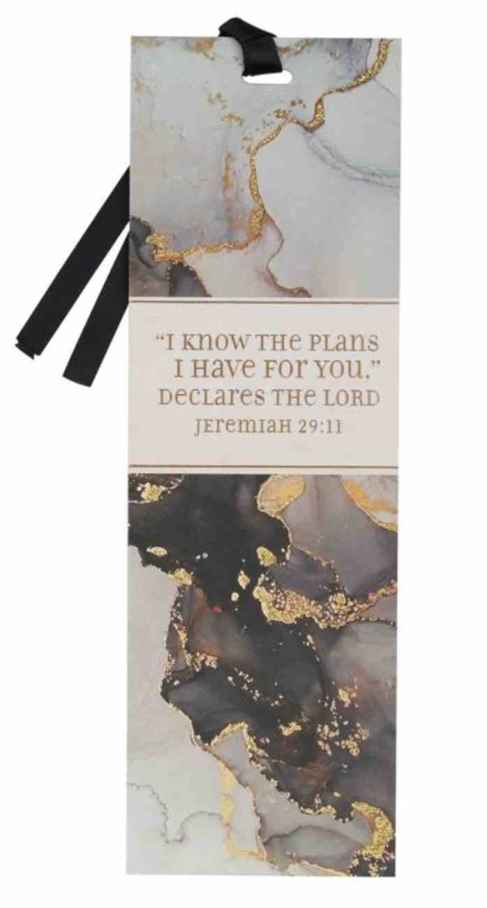 Premium Bookmark With Ribbon: I Know the Plans (Jer 29:11) Stationery