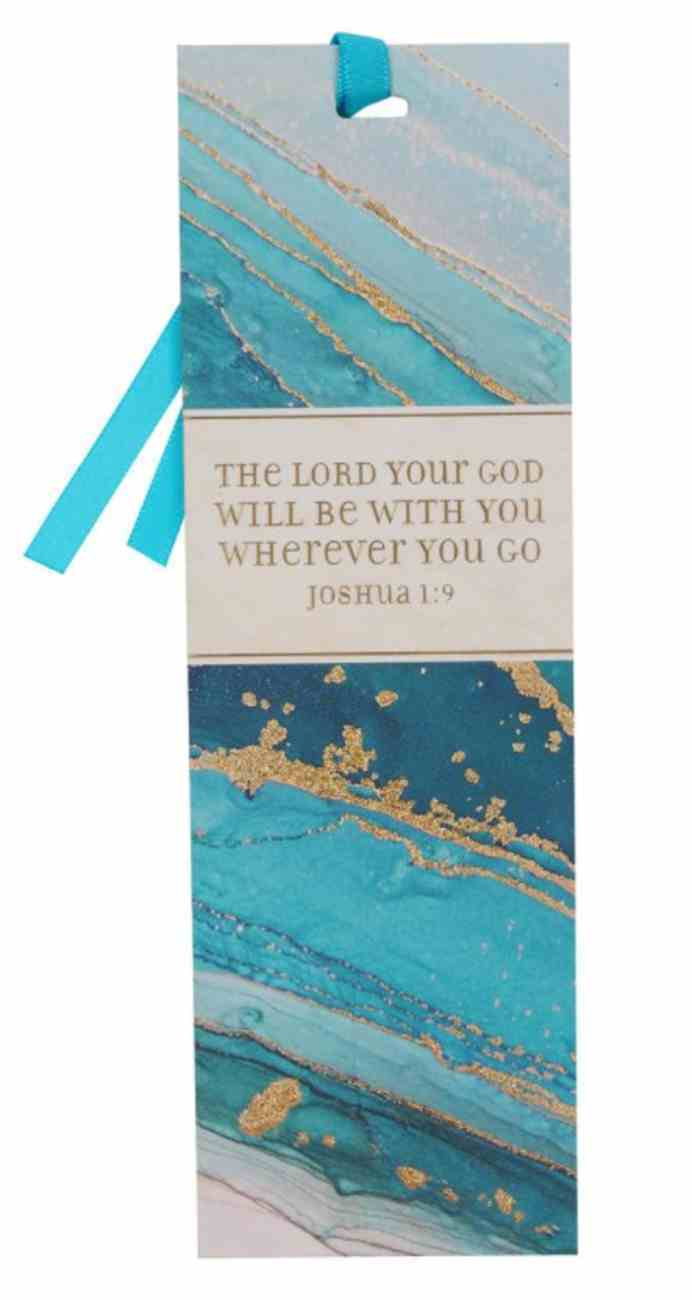 Premium Bookmark With Ribbon: With You (Joshua 1:9) Stationery