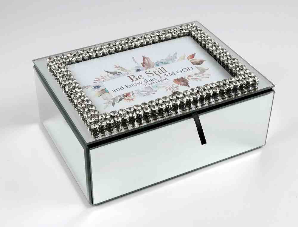 Crystal Mirror Music Box: Be Still and Know (Psalm 46:10) Undefined
