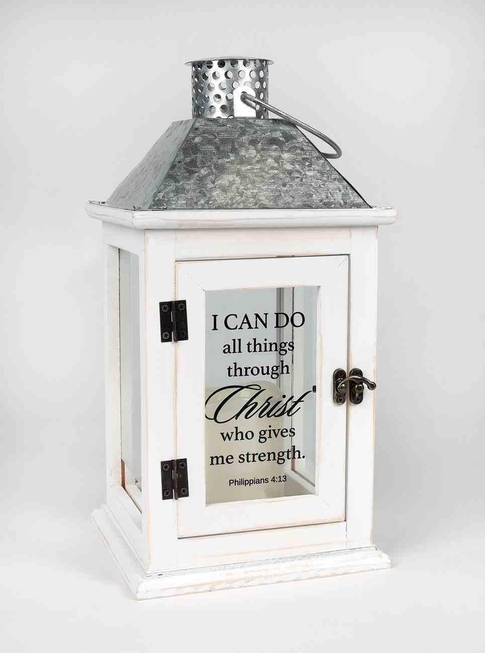 Elanze Lantern: I Can Do All Things Through Christ Homeware