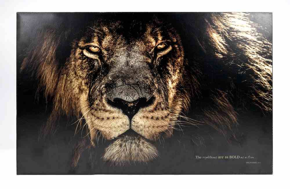 Wall Art: Lion, the Righteous Are as Bold as a Lion (Proverbs 28:1) Plaque