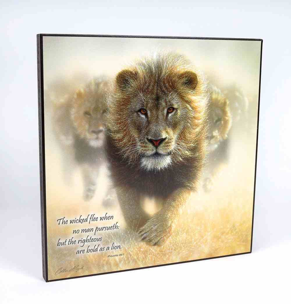 Wall Art: Bold as a Lion By Collin Bogle, Proverbs 28:1 Plaque