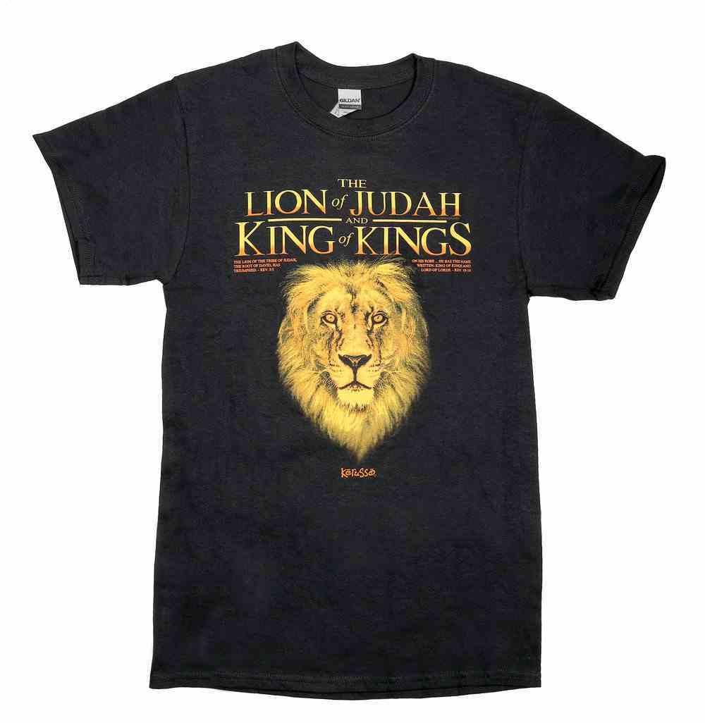 T-Shirt: King Lion, 4xlarge, Black Soft Goods