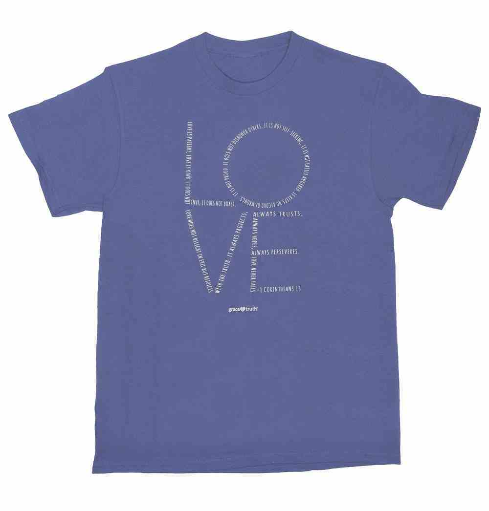 Love Chapter, Large, Round Neck, Violet, 1 Cor 13 (Grace & Truth Womens T-shirts Series) Soft Goods
