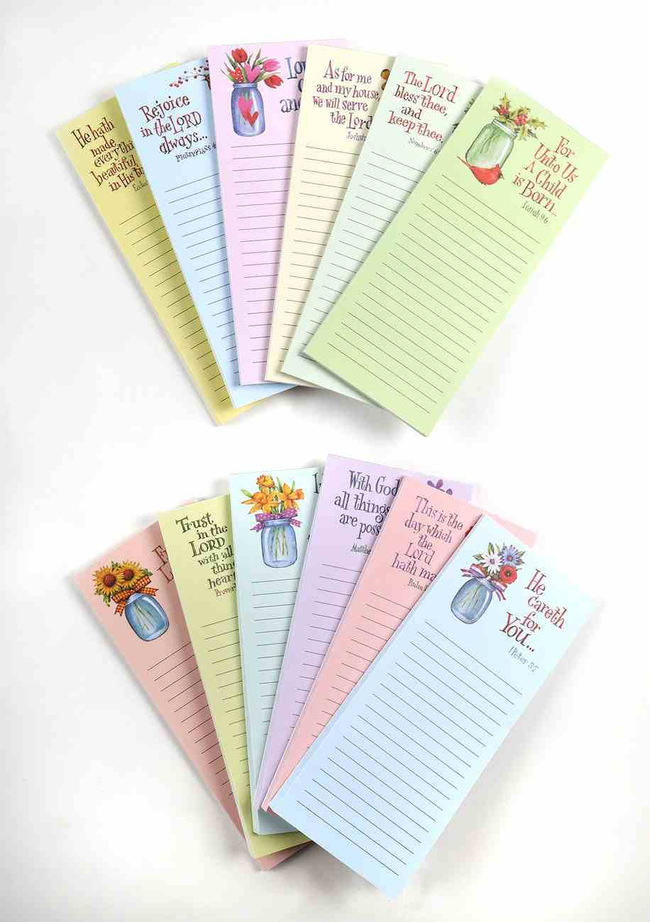 Memo Pads: Mason Jars (Set Of 12) Stationery