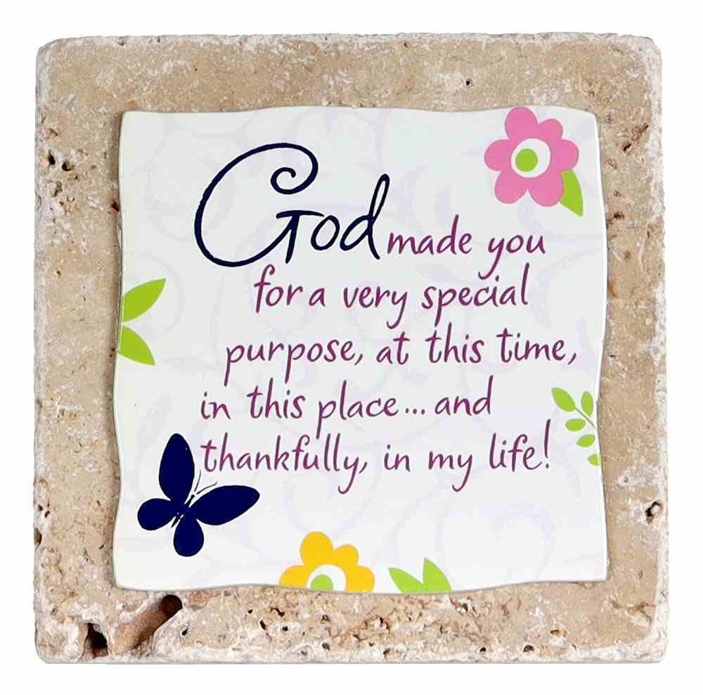 Sentiment Tile: God Made You... (Ceramic) Homeware
