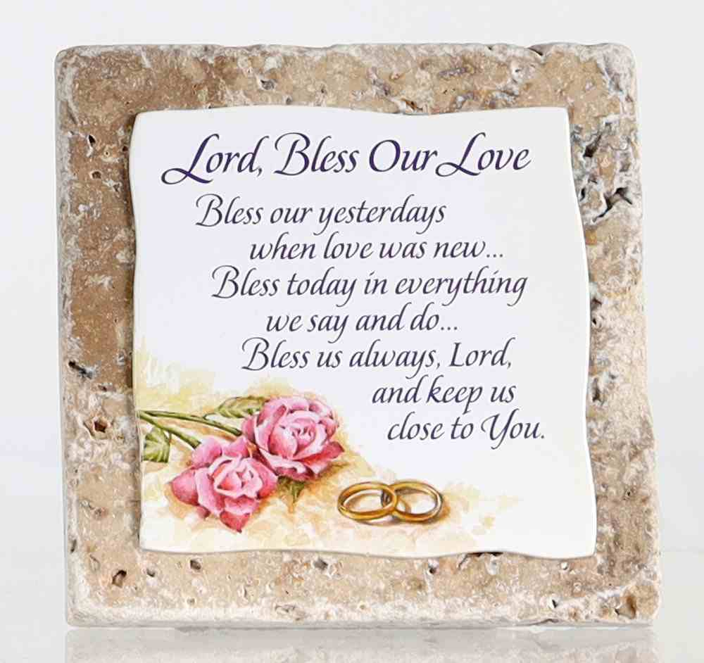 Sentiment Tile: Lord, Bless Our Love (Ceramic) Homeware