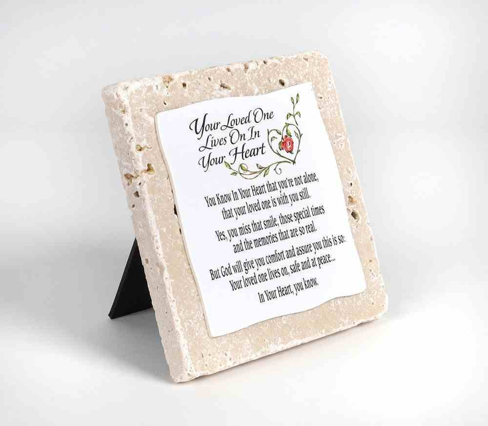 Sentiment Tile: Your Loved One Lives on in Your Heart Homeware