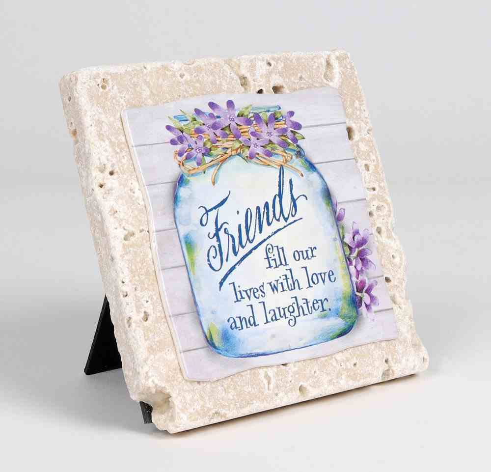 Sentiment Tile: Friends Fill Our Lives With Love and Laughter (Ceramic) Homeware