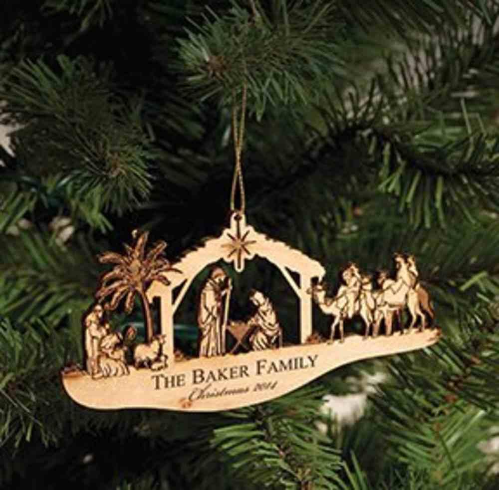 Christmas Ornament: Nativity (Alder Wood) Homeware