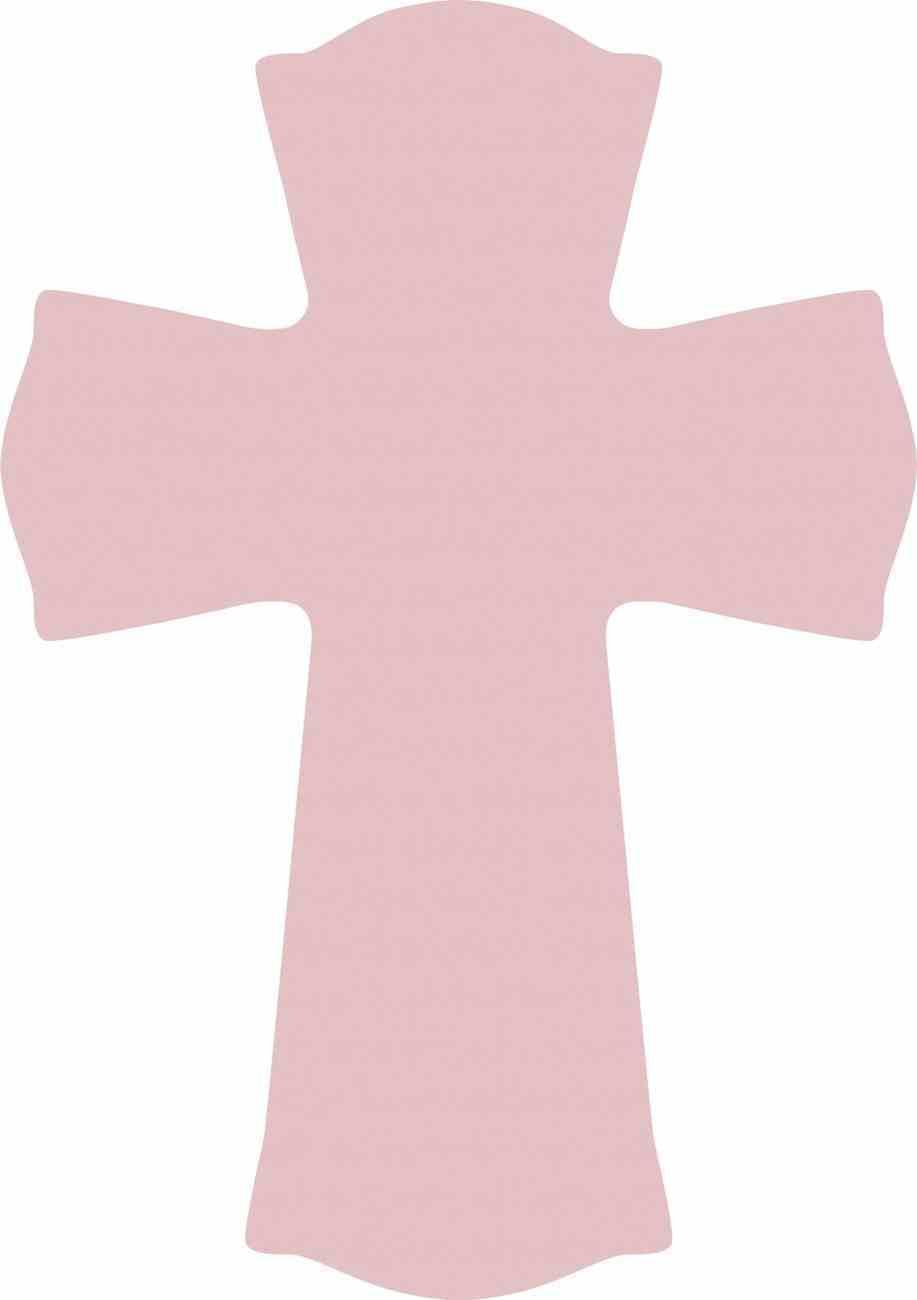 Cross: Pink (Mdf) Plaque