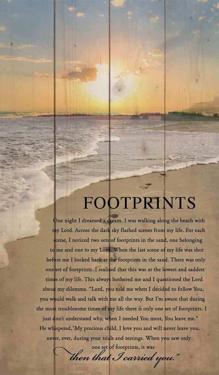 Panel Wall Art: Footprints (Pine) Plaque