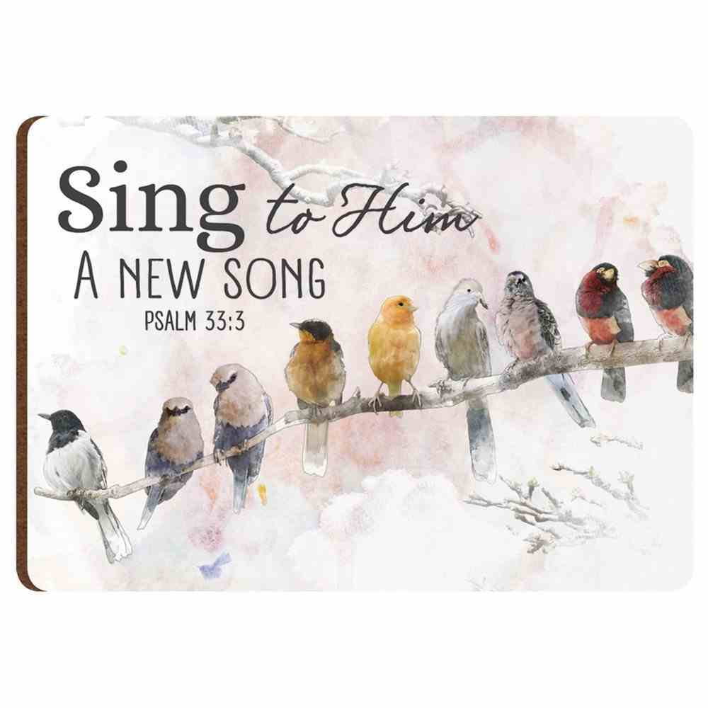 Magnet: Sing to Him a New Song Birds (Psalm 33.:3) Novelty