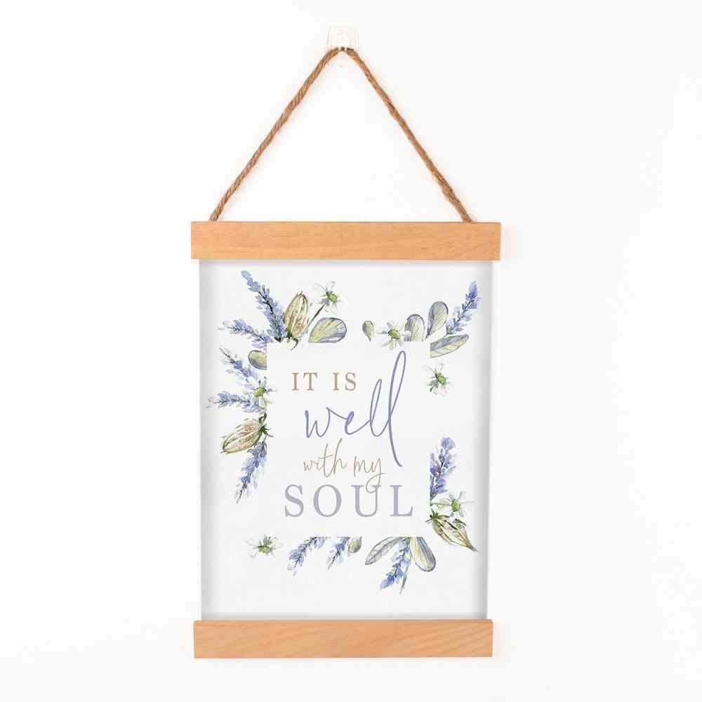 String Banner: It is Well With My Soul, Lavender Sprigs Homeware