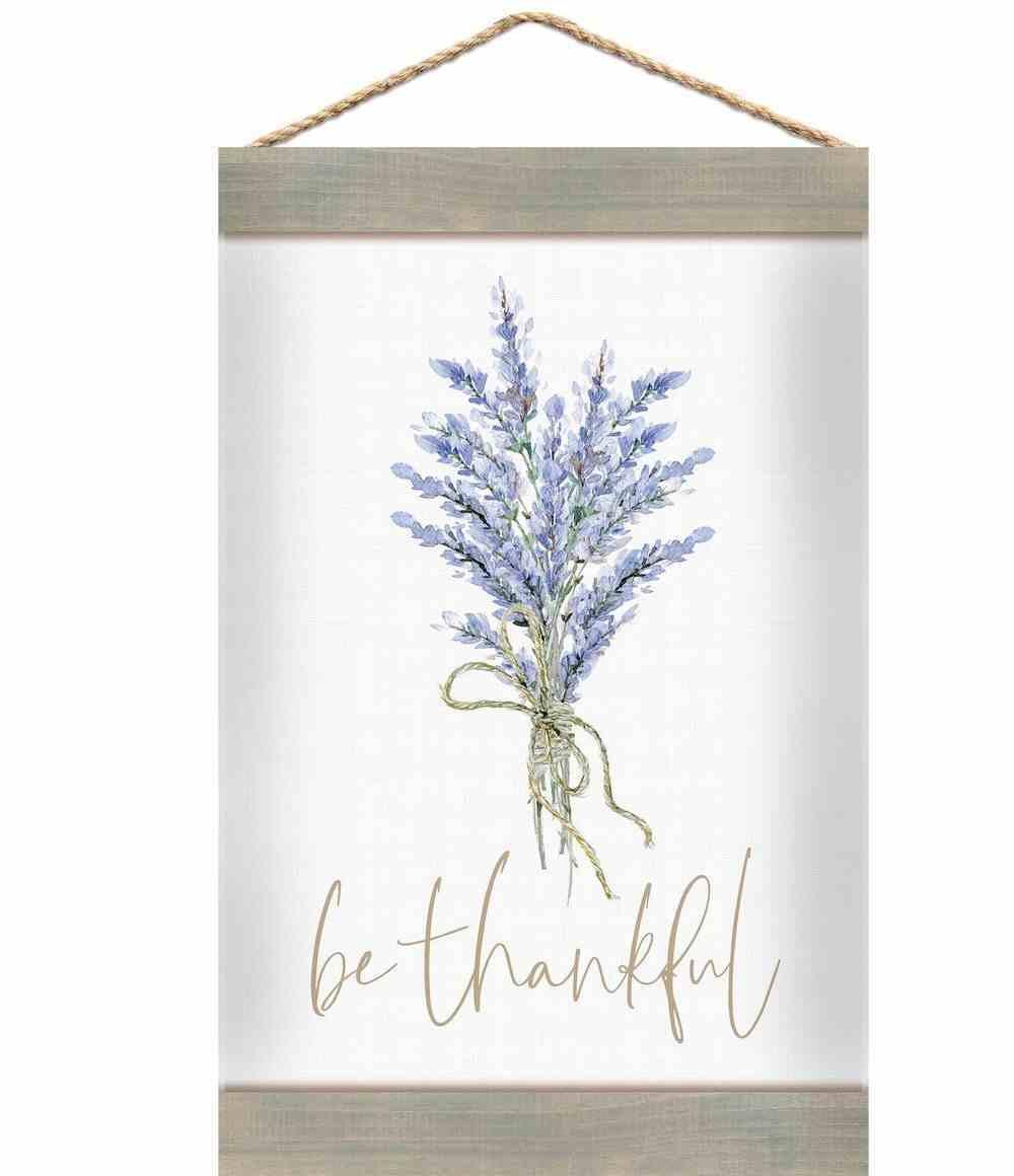 String Banner: Be Thankful, Lavender Sprigs Homeware