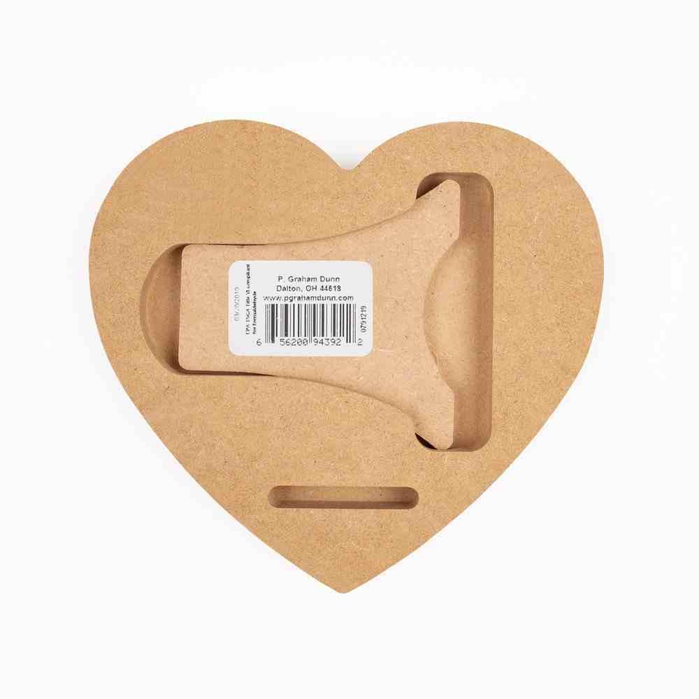 Tabletop Decor: Founded on Faith, Heart Shape (Mdf) Homeware