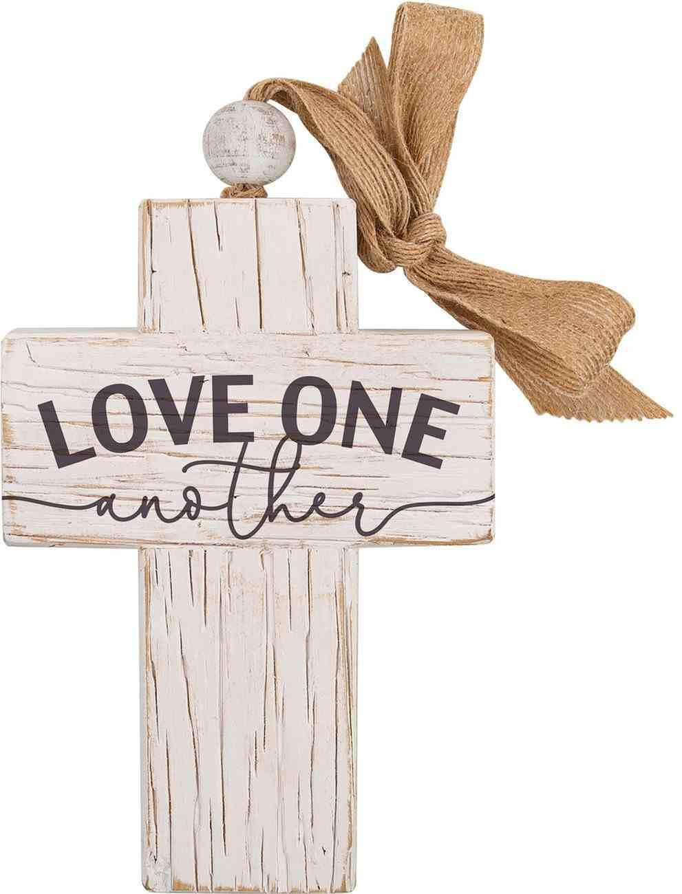 Tabletop Decor: Cross, Love One Another (Fir, Embossed Elm) Homeware