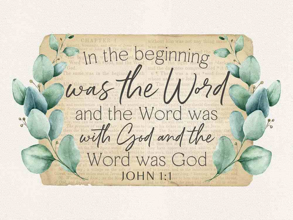 Wall Art : In the Beginning Was the Word (John 1:1) (Canvas/Mdf) (Vintage Praise Series) Plaque