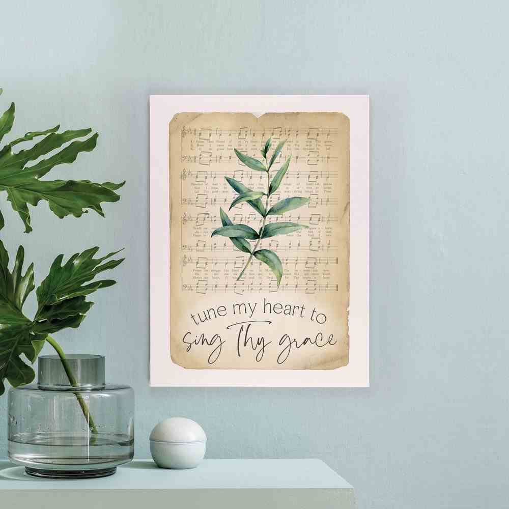 Wall Art : Tune My Heart to Sing Thy Grace (Canvas/Mdf) (Vintage Praise Series) Plaque