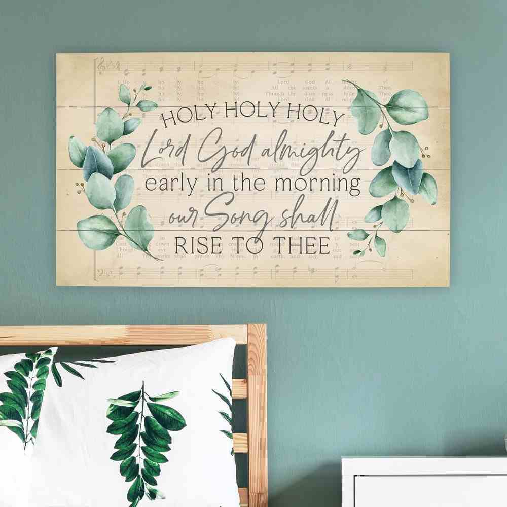Panel Wall Art : Holy Holy Holy, Branches (Pine) (Vintage Praise Series) Plaque