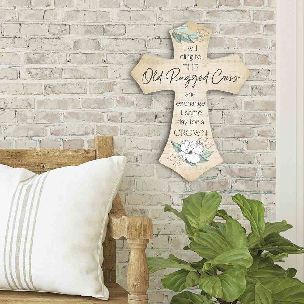 Cross Wall Plaque : Old Rugged Cross (Mdf) (Vintage Praise Series) Plaque