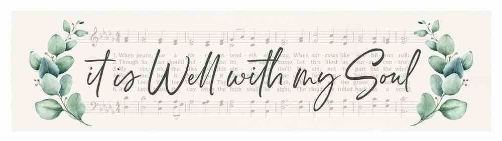 Tabletop Decor : It is Well With My Soul (Pine) (Vintage Praise Series) Homeware