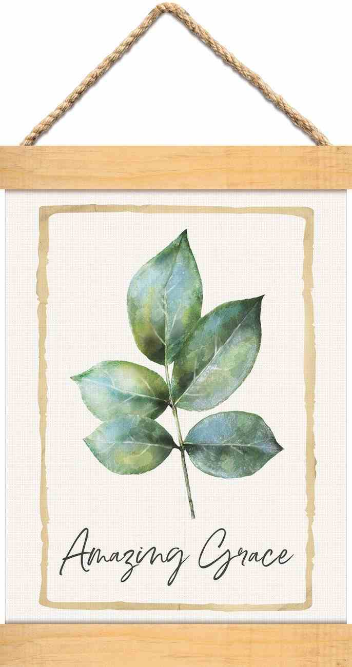 String Banner : Amazing Grace, Leaf (Canvas/Pine) (Vintage Praise Series) Homeware