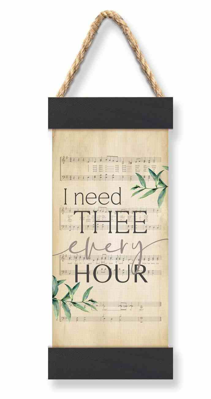 String Banner: I Need Thee Every Hour (Vintage Praise Series) Homeware