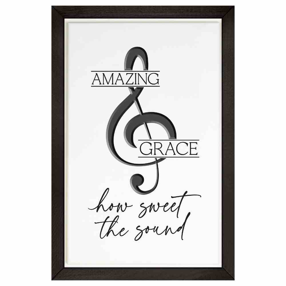 Carved Wall Art: Amazing Grace, Carved Musical Note (Mdf/pine) Plaque