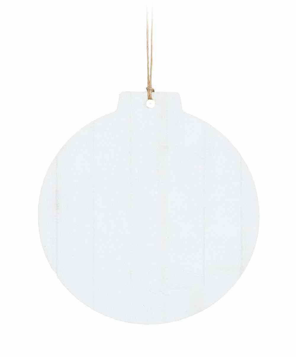 Christmas Ornament: White Faux, Round Shape (Hdf) Homeware