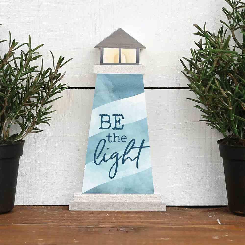 Tabletop Decor: Lighthouse Shape, Be the Light (Pine) Homeware