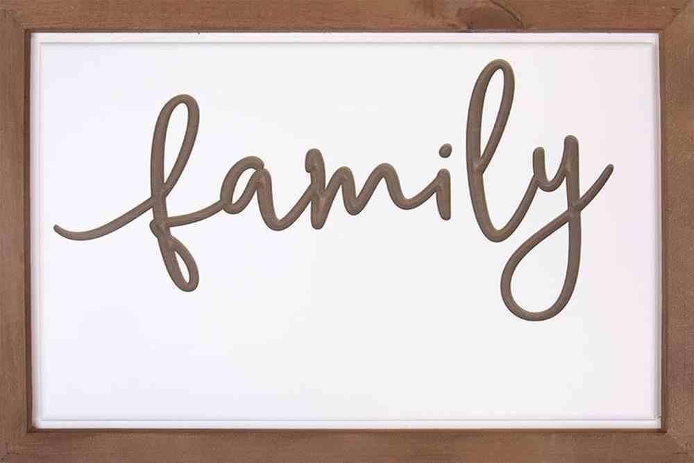 Carved Framed Sign: Family (Mdf/pine) Homeware