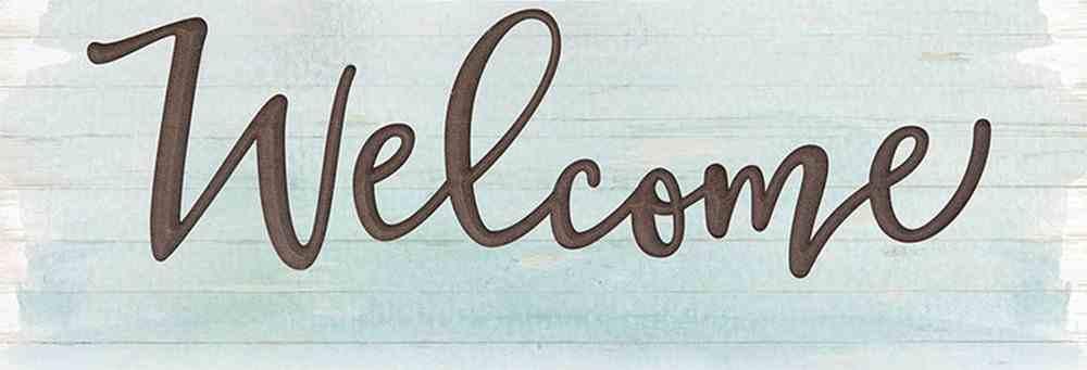Carved Sign: Coastal Welcome (Mdf) Homeware