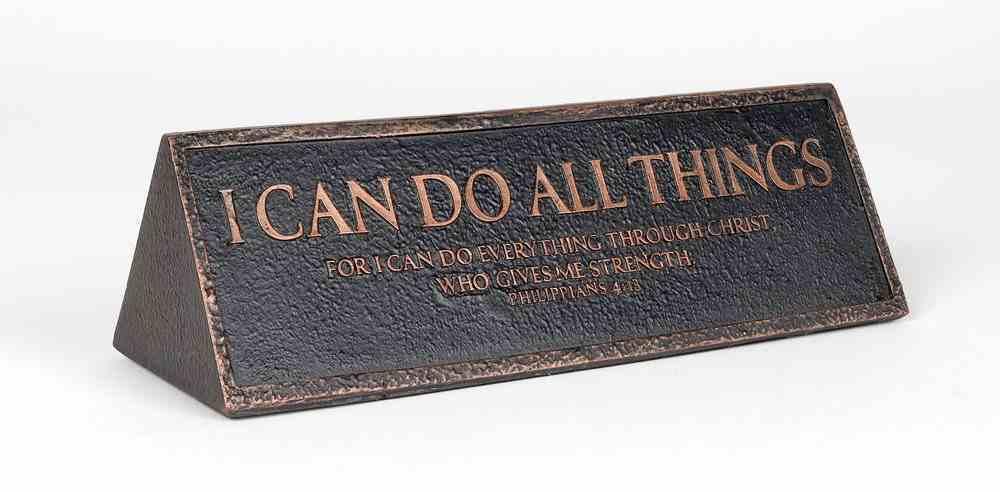 Plaque Cast Stone Desktop Reminder: I Can Do All Things, Copper (Philippians 4:13) Homeware