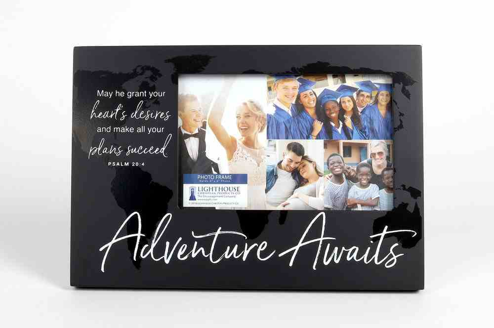 Photo Frame: Adventure Awaits, Black/White Homeware
