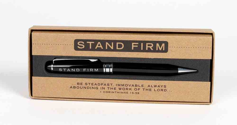 Metal Pen, Stand Firm Black (1 Cor 15: 58) (Simply Yours Collection) Stationery