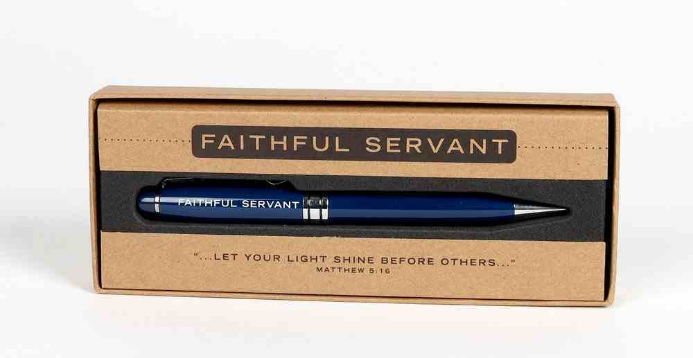 Metal Pen, Faithful Servant Navy (Matt 5: 6) (Simply Yours Collection) Stationery