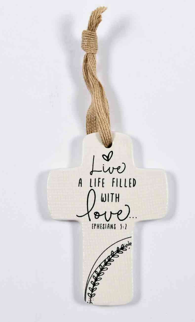 Cross Ornament: Live Love Homeware