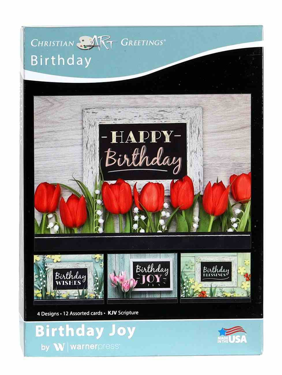 Boxed Cards: Birthday Joy Floral (Kjv) Box