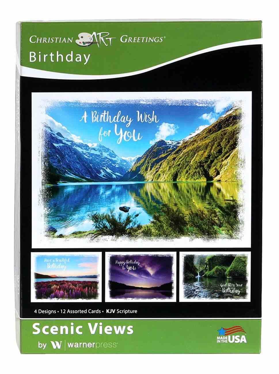 Boxed Cards: Birthday, Scenic Views Box