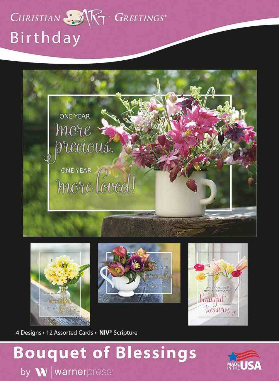 Boxed Cards: Birthday, Bouquet of Blessings Box