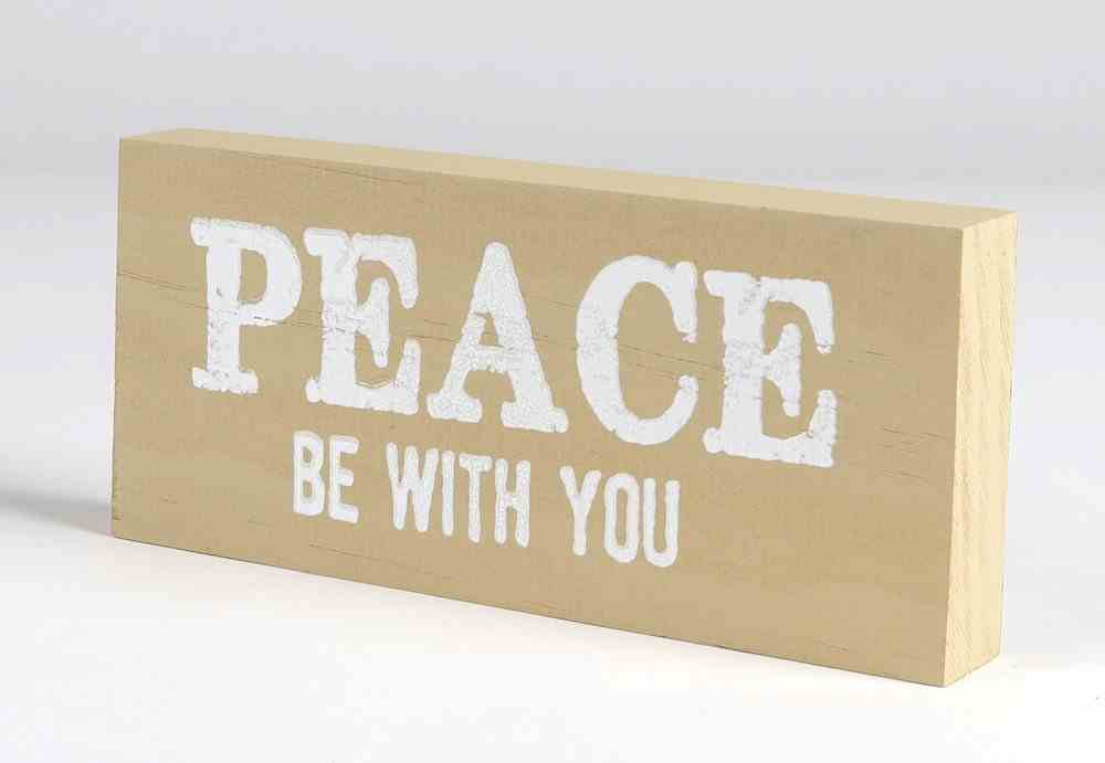 Mini Plaque: Peace Be With You, Almond Plaque